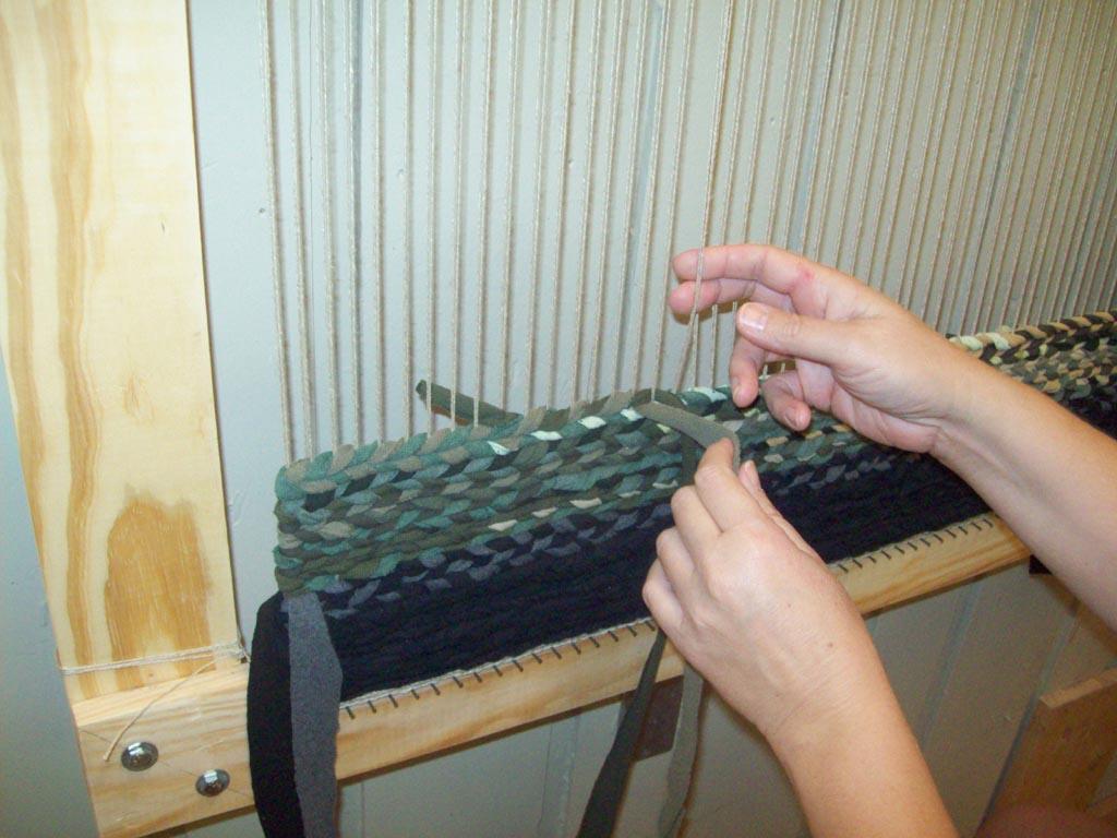 Twined Rag Rug Loom