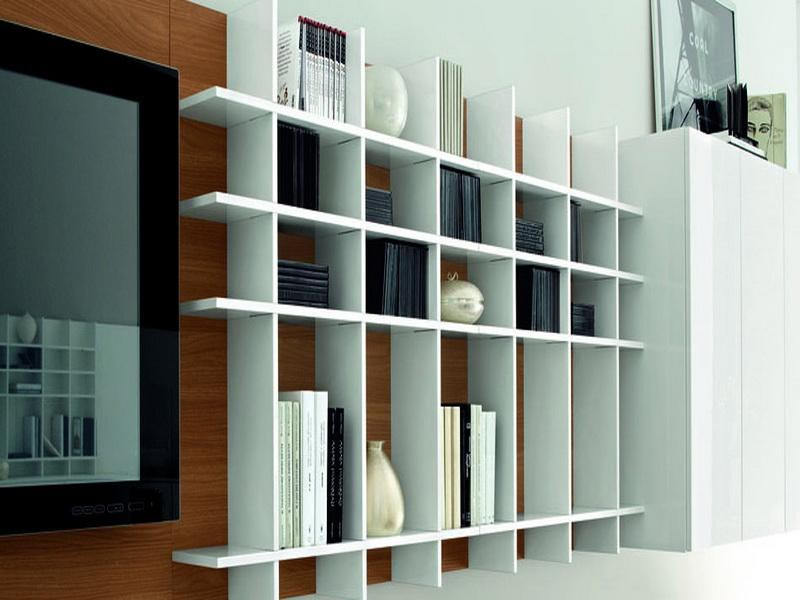 Organize the space rationally with wall book shelves - Wall mounted bookshelf designs ...