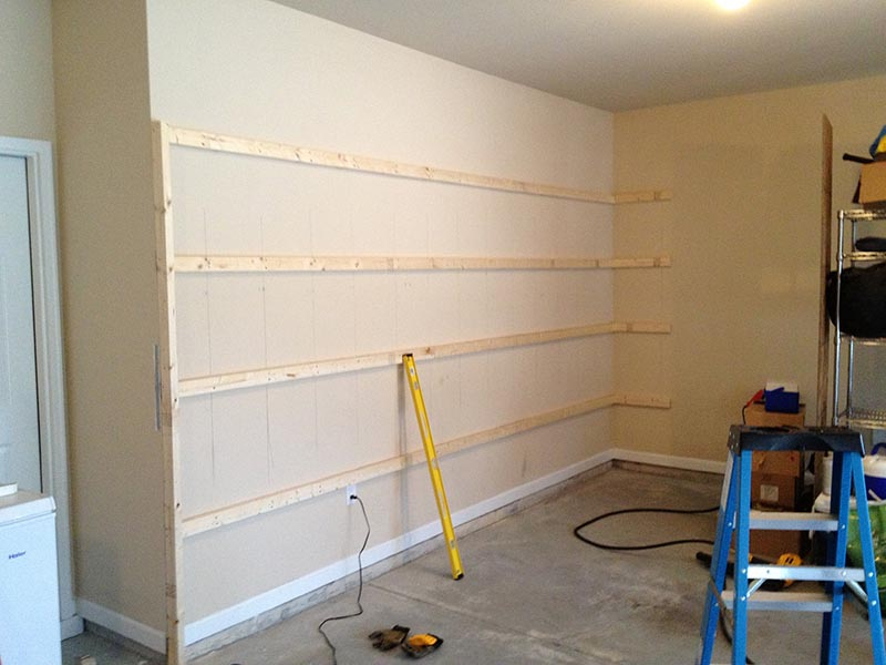 Wall Mounted Storage Shelves Garage