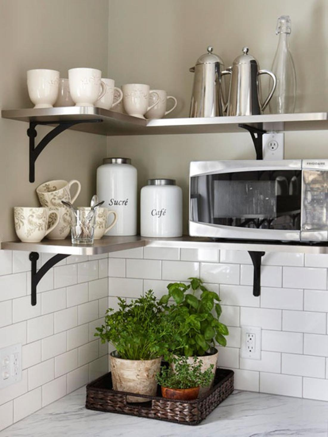 Wall Shelves for Kitchen Storage