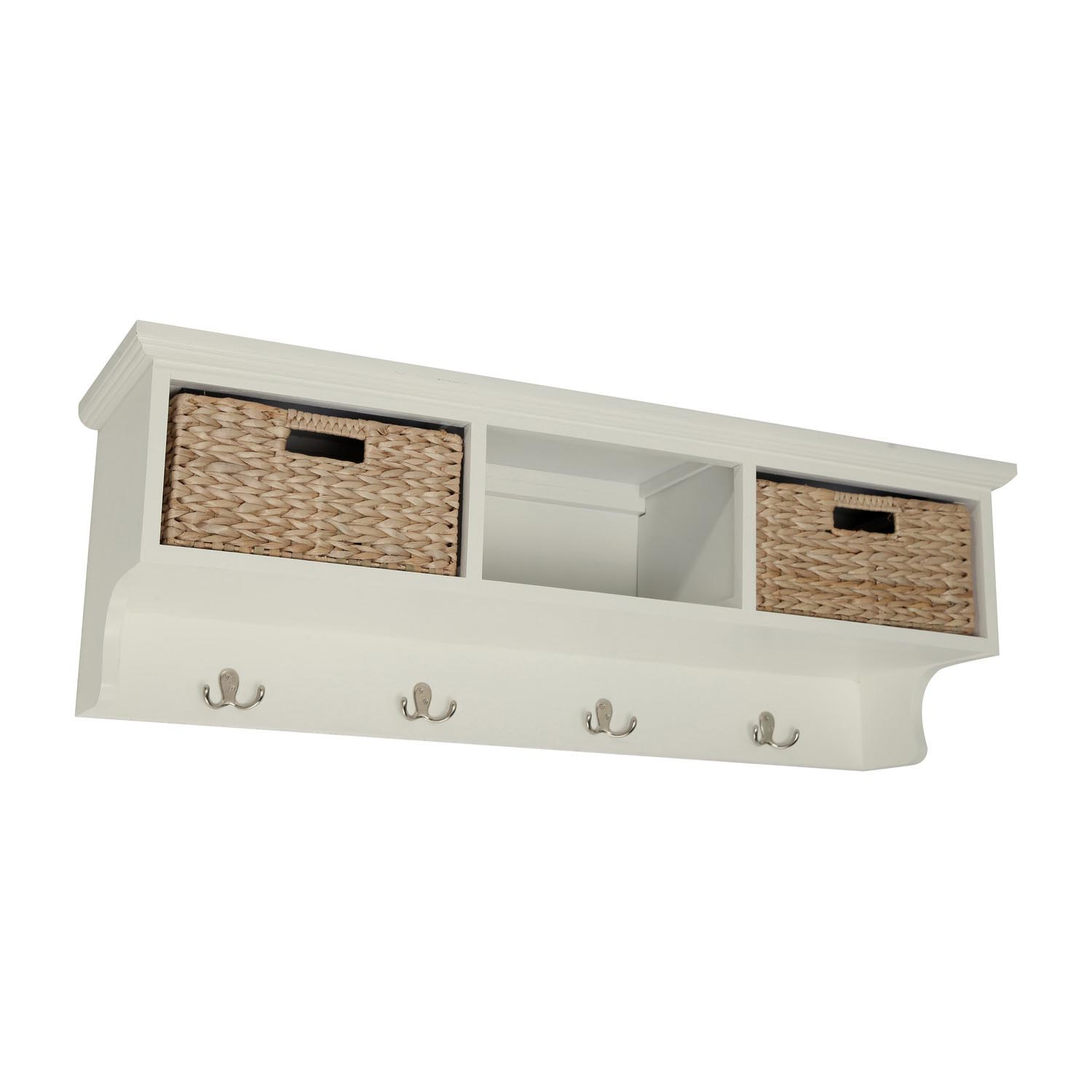 Wall Storage Shelves with Baskets