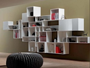 Wall Unit Book Shelves