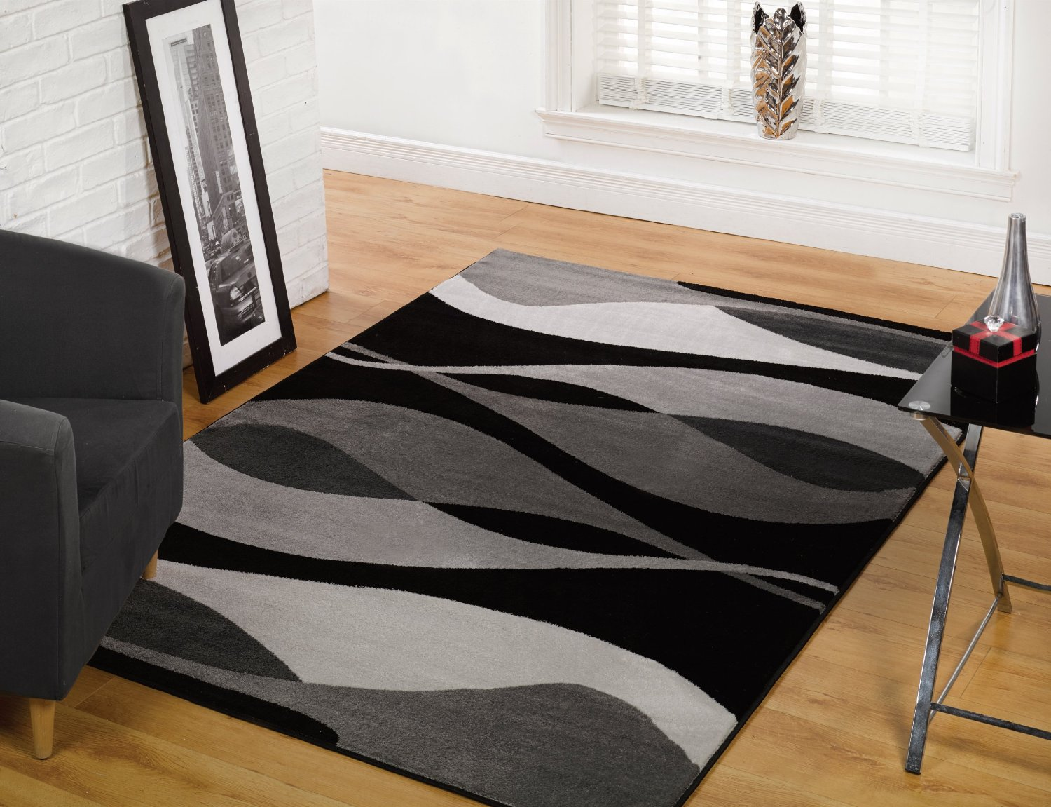 Rug Dark Blue And White Area Rug :