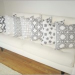 White Decorative Pillows for Couch