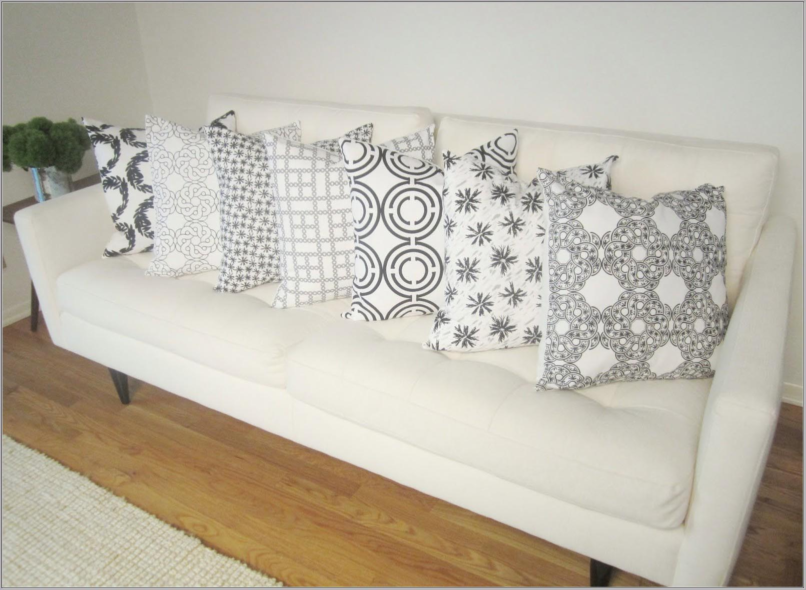 White Decorative Pillows For Bed : White Decorative Pillows For Couch Best Decor Things