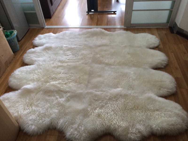 White Faux Sheepskin Rug