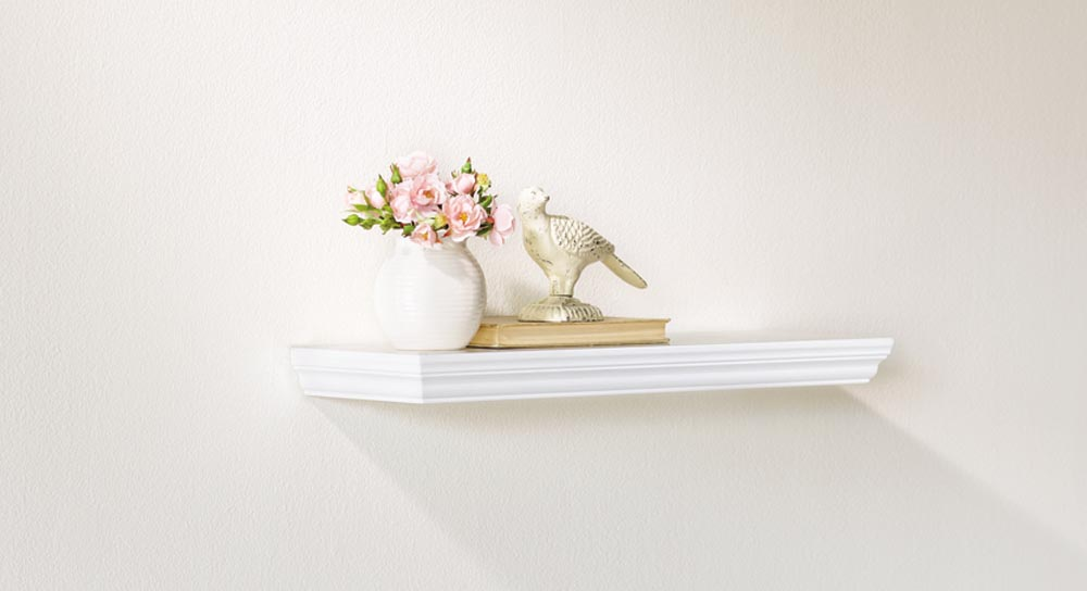 White Floating Wall Shelves