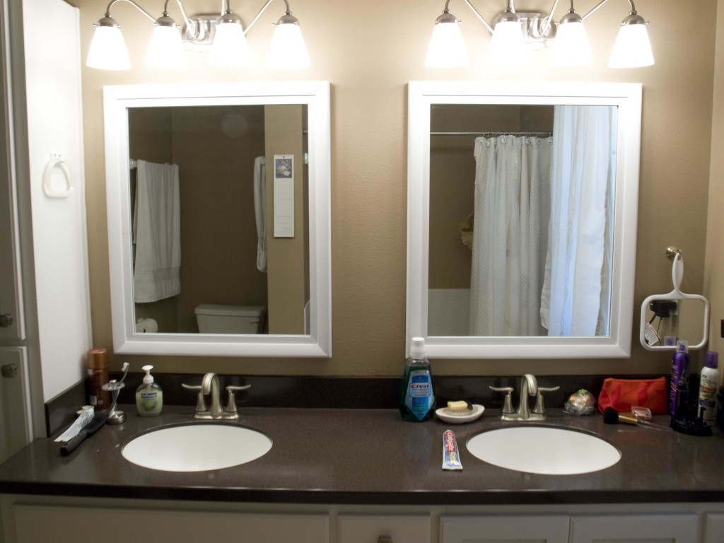 White Framed Mirrors for Bathrooms