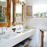 White Wood Framed Bathroom Mirrors