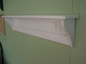 White Wooden Shelves Wall