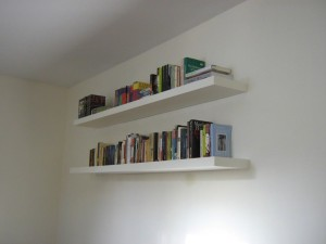 White Wooden Wall Shelves