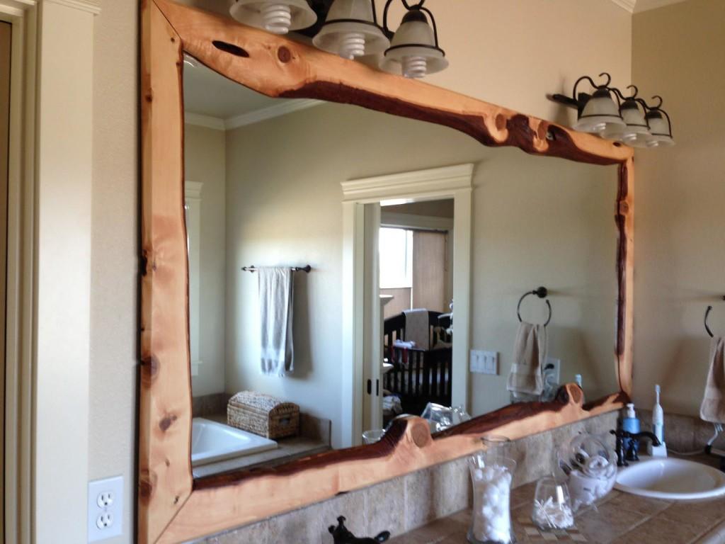 Wood Framed Bathroom Mirrors