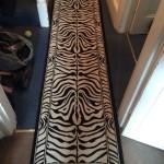 Zebra Print Runner Rug