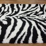 Zebra Print Shag Rug