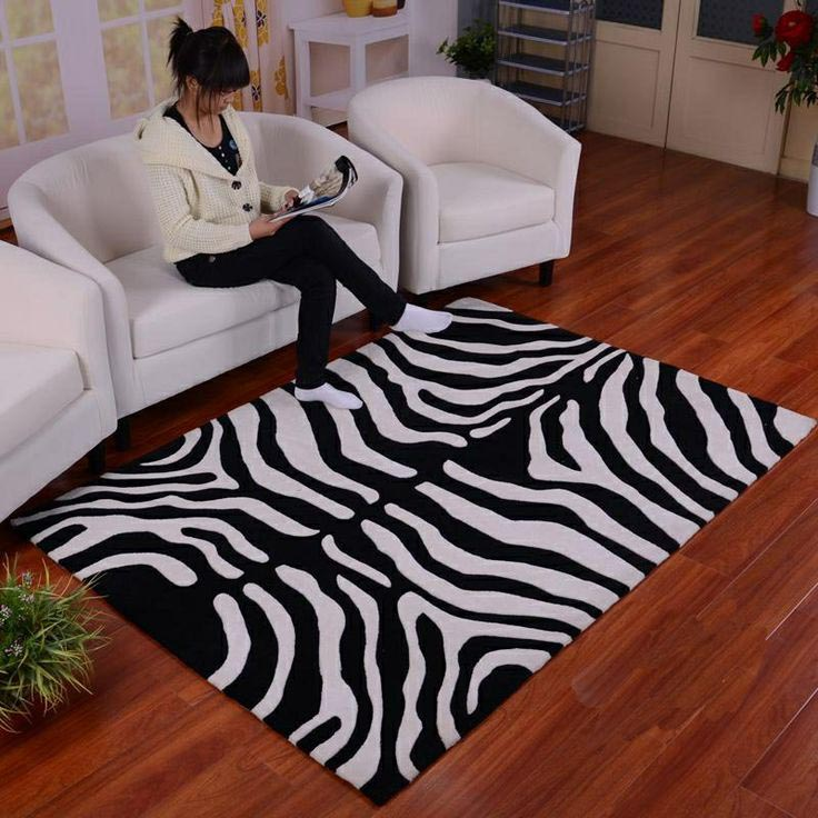 Zebra Print Throw Rug